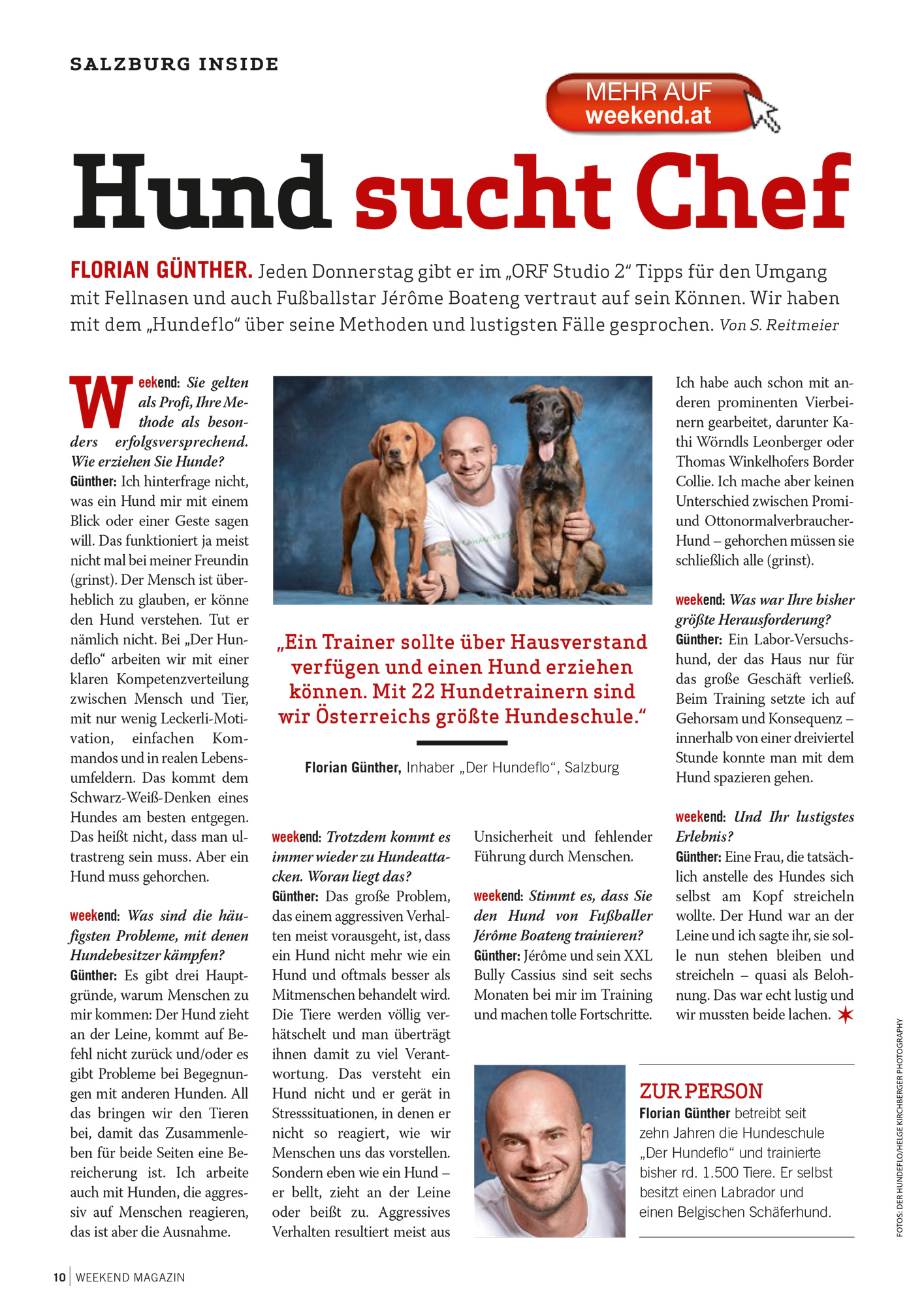 Der Hundeflo, Weekend Magazin, 31. Mai 2019